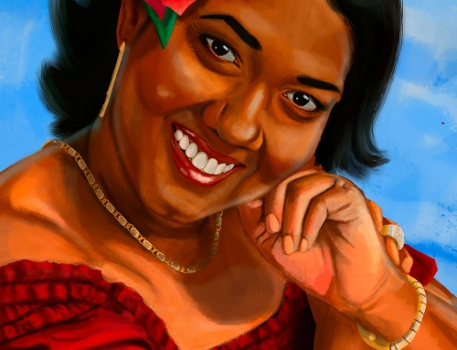 Portrait Painting Of Ms.Nandram
