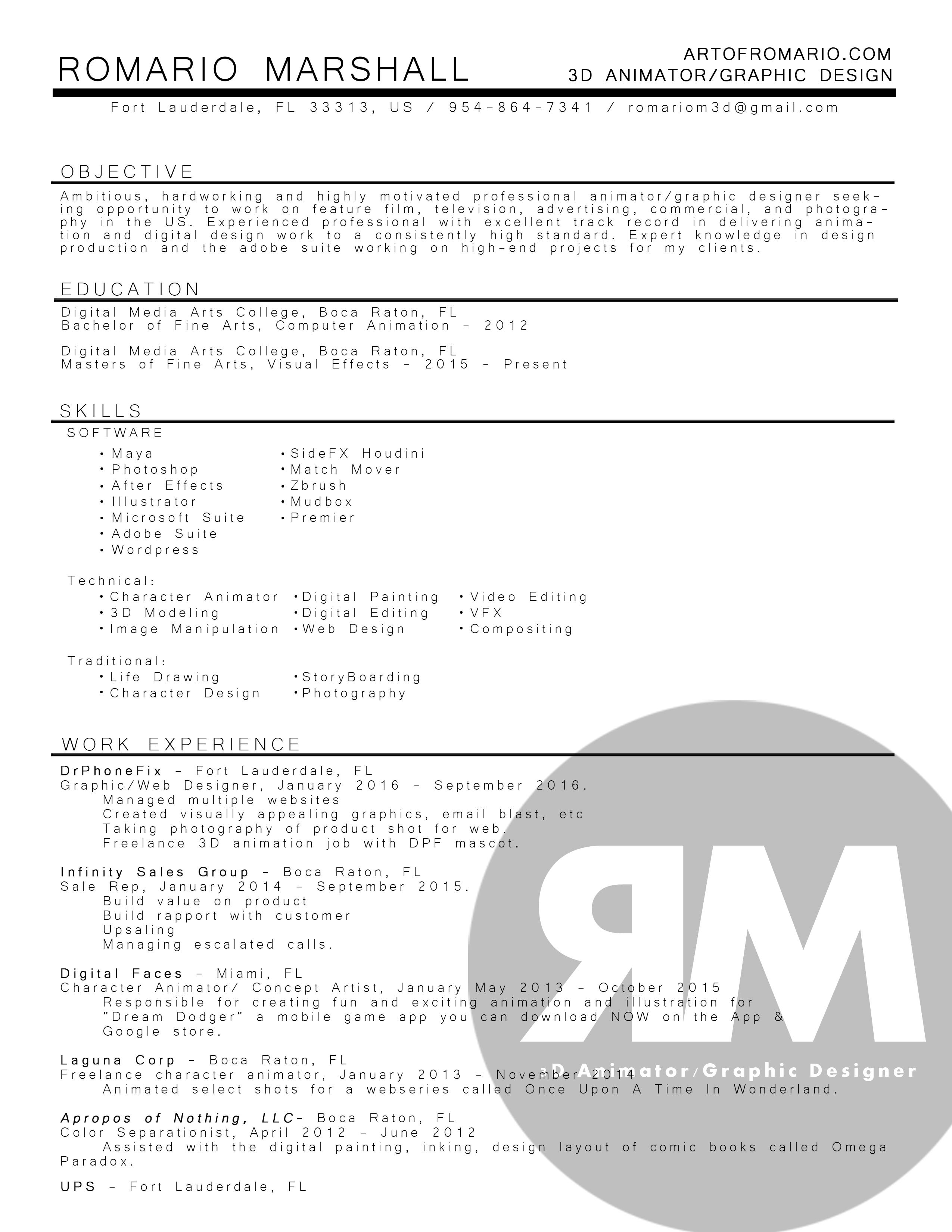 romario-marshall-resume-2016